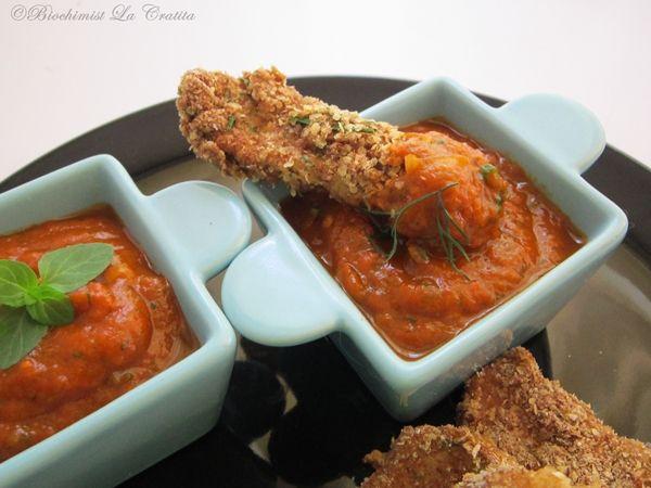 Biochimist La Cratita: Snitel dietetic de pui cu salsa de ardei copt
