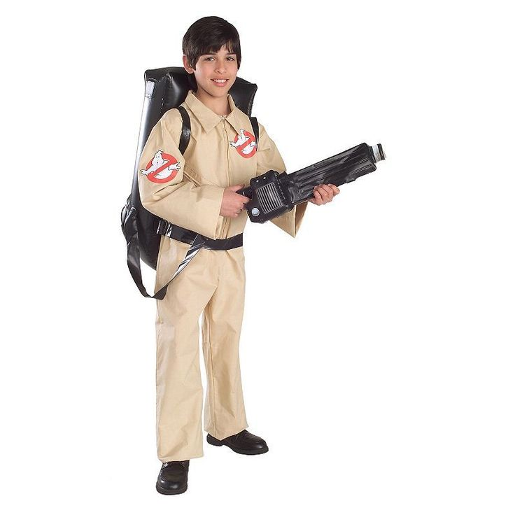 Kids Ghostbuster Costume, Boy's, Size: Small, Brown