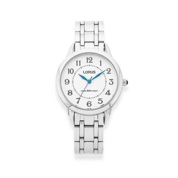 Lours Ladies Silver Tone Watch (Model: RG251JX-9)