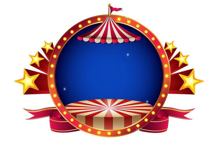 Molduras em png tema circo - Cantinho do blog Layouts e Templates para Blogger