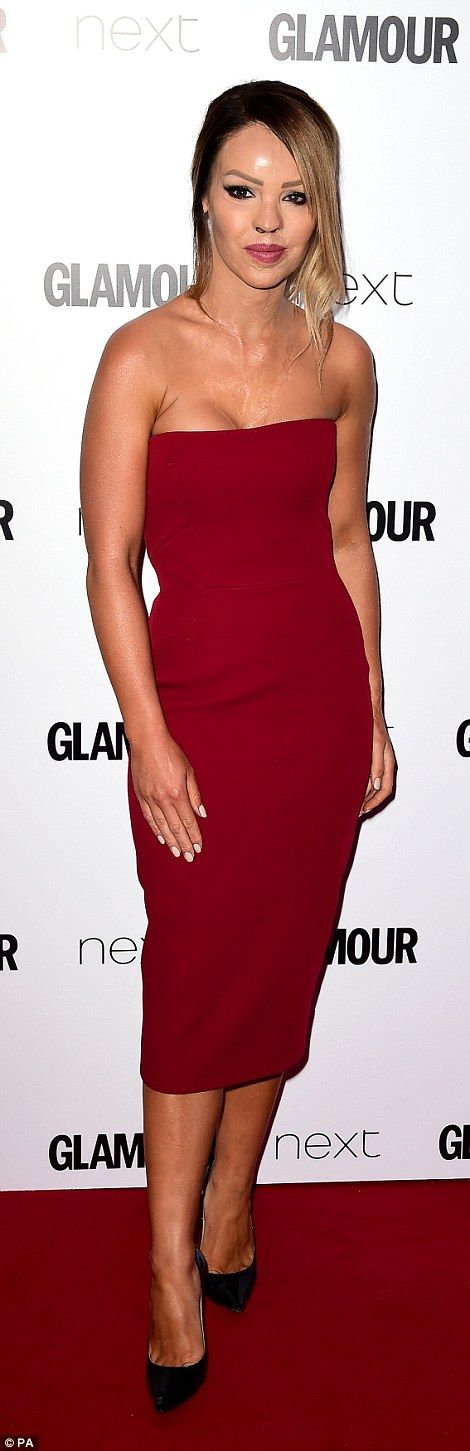 Here come the girls: Davina McCall and Katie Piper also cut stylish figures as they attend...