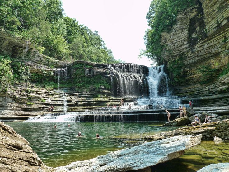 Cummins Falls State Park. Waterfall in Tennessee, United States