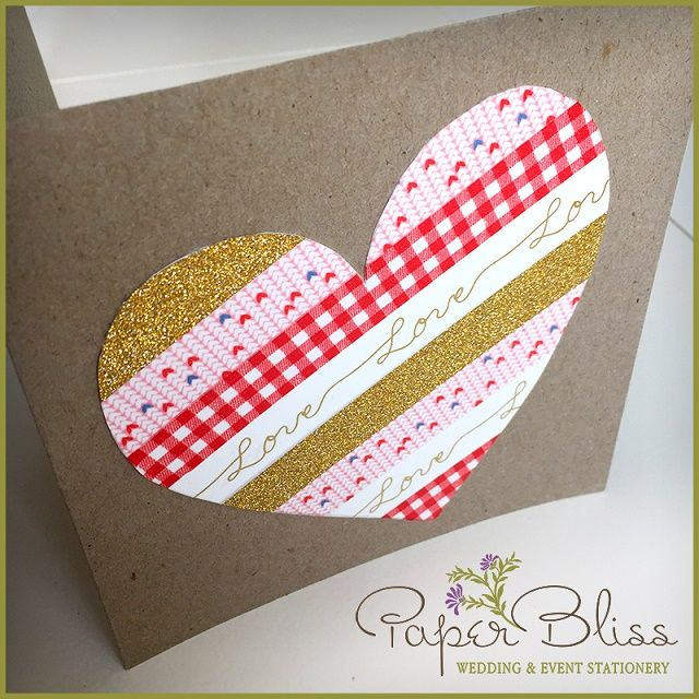 Adorable DIY Valentine's card, using washi tape. This one's so easy even the kids can make it!
