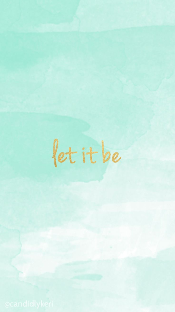 Let It Be Gold Lettering With Blue Watercolor Background Wallpaper You Canu2026