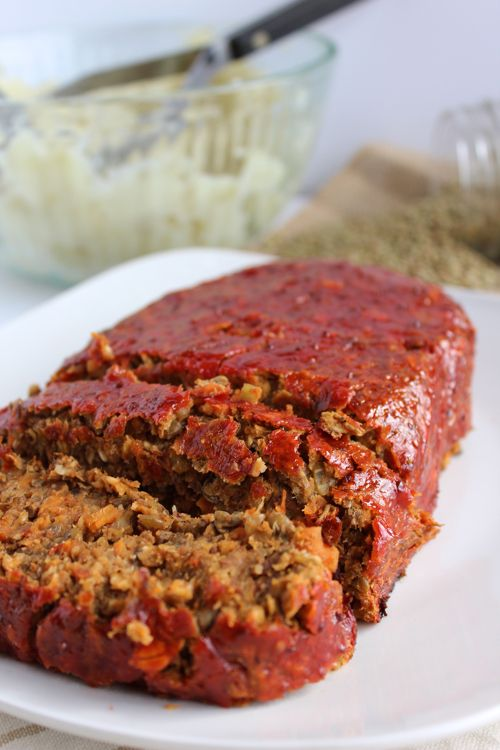 This hearty Mushroom Lentil Loaf is loaded with whole grains, protein-packed lentils, and lots of fresh veggies!