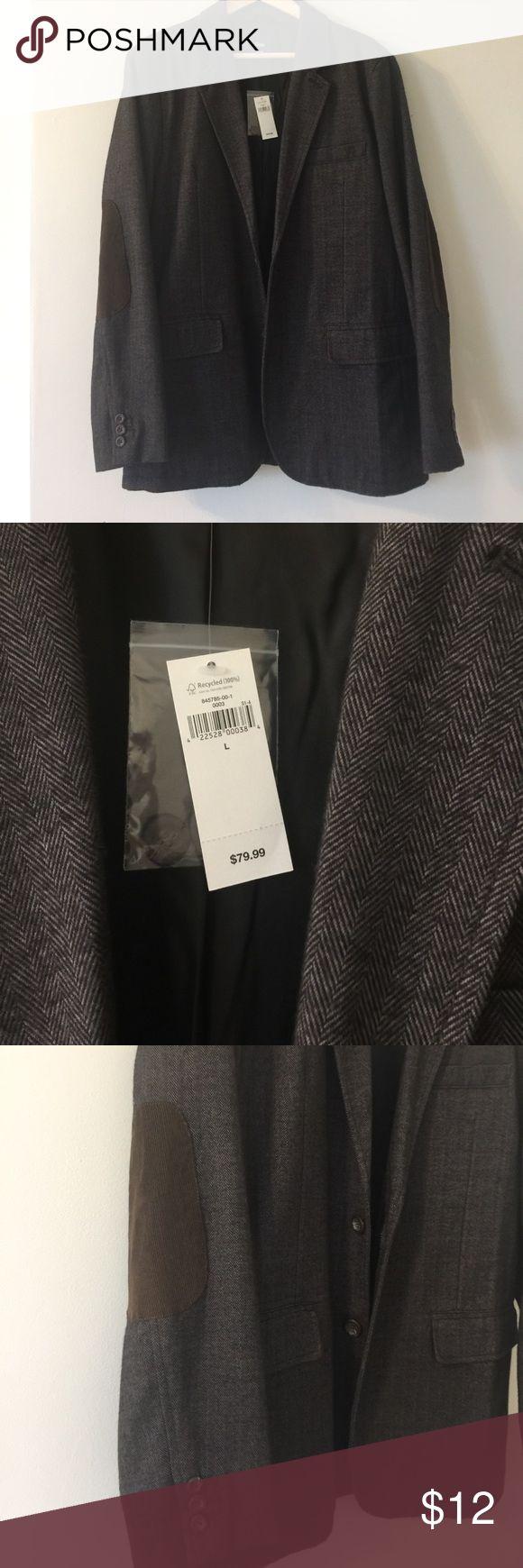 Men's sports jacket Dark grey herringbone stitch with elbow pads GAP Suits & Blazers Sport Coats & Blazers