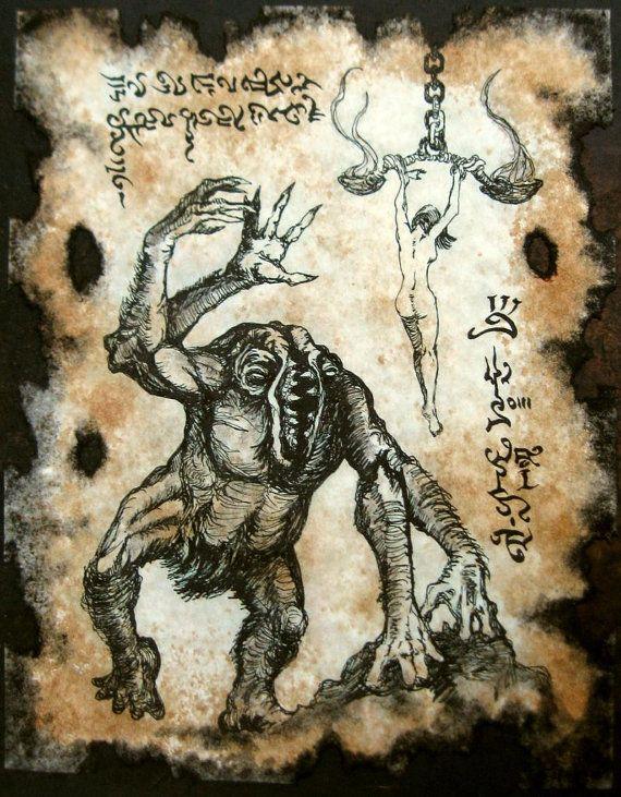 SACRIFICE to the GUG Cthulhu larp Necronomicon Scrolls dark occult witchcraft magick