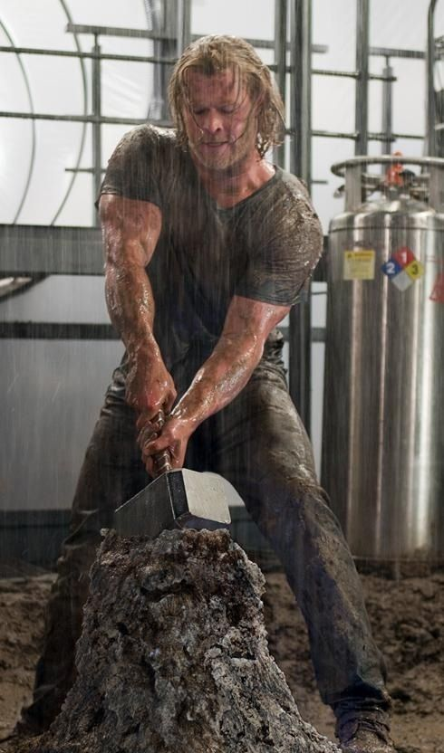 Thor....   Those arms...  All well in proportion and all well  ..  I said that but gosh wow