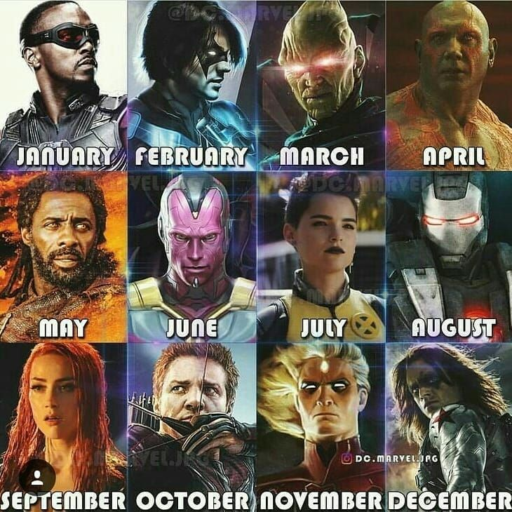 Tell Me Your Birth Month Superhero Side Kick And Supervillain