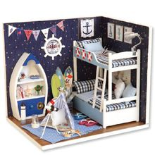 Diy Miniature Wooden Doll House Furniture Kits Toys Handmade Craft Miniature Model Kit DollHouse Toys Gift For Children Sale Price:  US $20.23