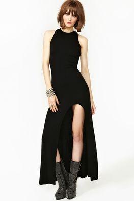 Siyah Maksi Elbise - NASTY GAL | Hipnottis  Daha fazlası:  http://www.hipnottis.com/tasarim-elbise/nasty-gal-siyah-maksi-elbise