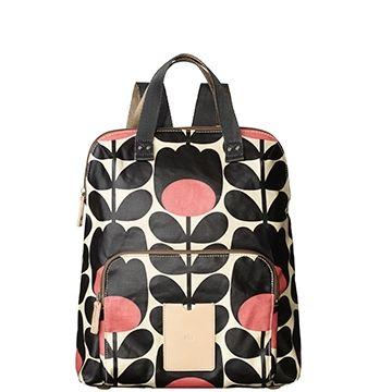 Orla Kiely backpack tote in tulip stem jet - Christmas in #HTFSTYLE