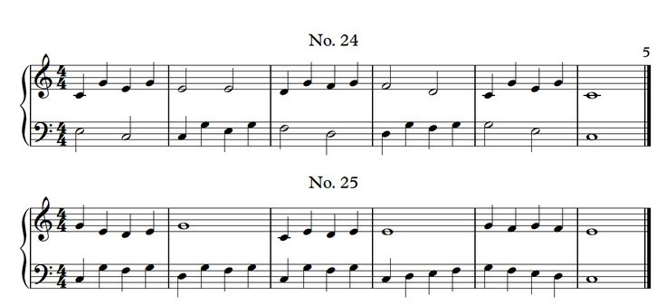 300+ free piano sight-reading exercises from easy to difficult. All in C position, using C-G, both hands.