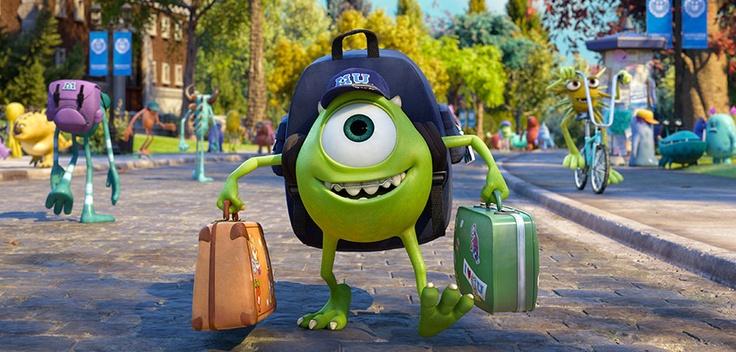 Studentenleben wir kommen! Ab geht`s mit Mike auf Die Monster Uni #DieMonsterUni ©Disney•Pixar