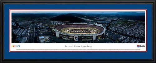 """NASCAR Tracks - Bristol Motor Speedway Aerial - Night II - Framed Poster Print by Laminated Visuals. $189.95. This aerial panorama of Bristol Motor Speedway features the first night race since the track was reconfigured. Changes were made to the track in response to fan requests and to return the Speedway to its iconic status - """"the hottest ticket in motorsports."""" Located in Bristol, Tennessee, the Speedway was constructed in 1960 and held its first race the foll..."""
