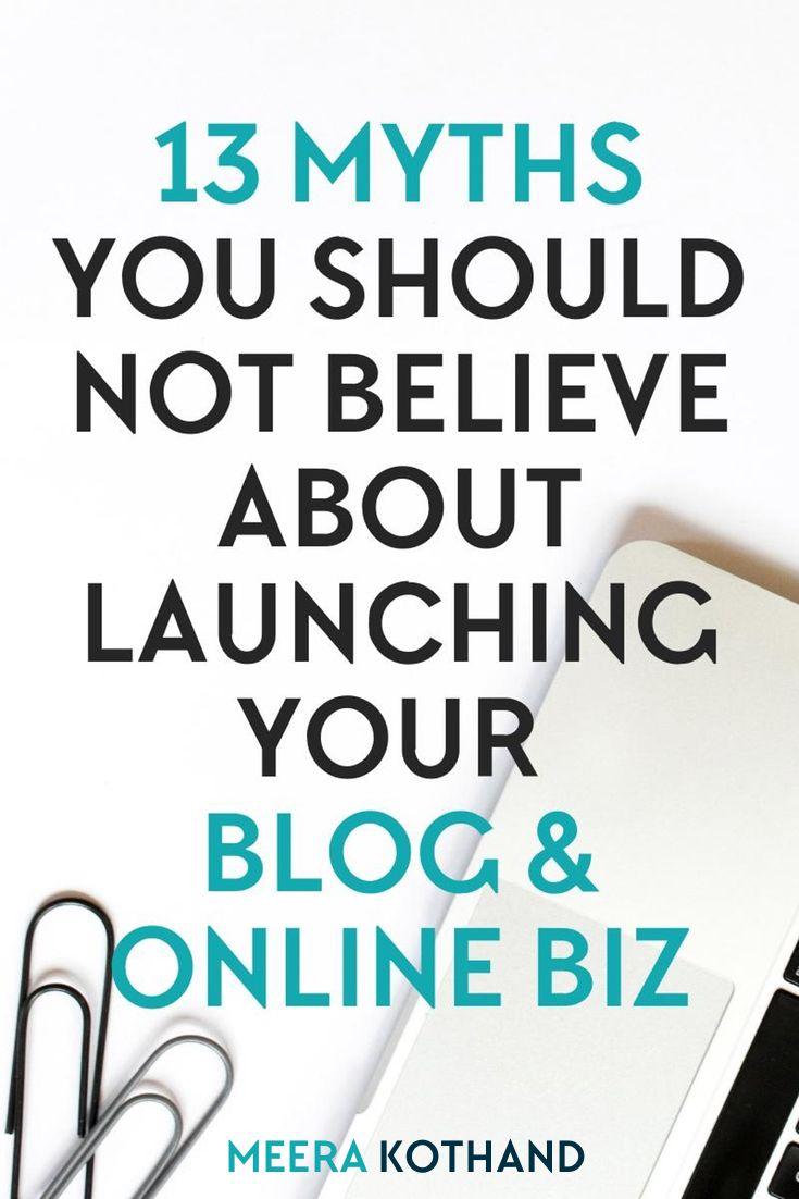 In this post I share 13 blogging myths that most bloggers (new and old) believe about launching their blogs and online businesses and how it affects your blogging success. It also gives you tips and strategies on how to launch your blog for success.