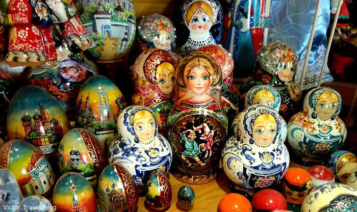 Russian souvenir matrioshka.