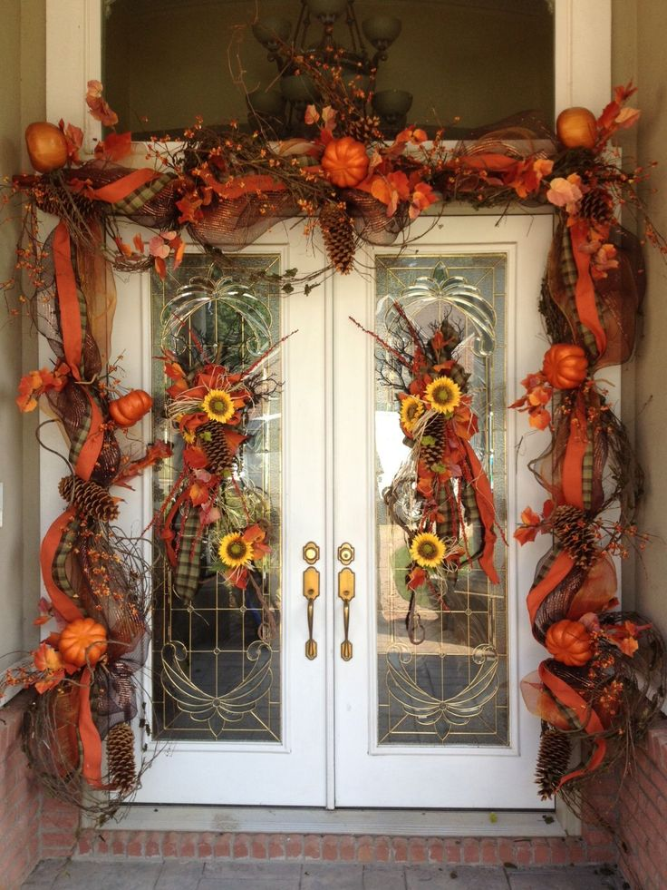 10 best fall front door garland images on pinterest