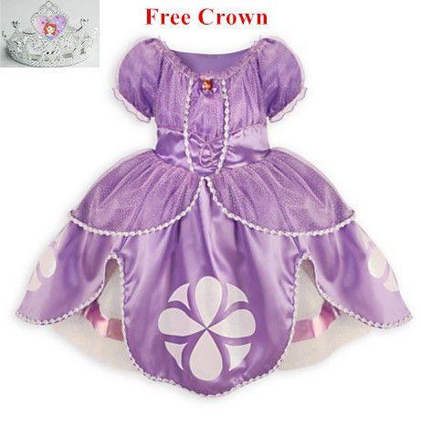 Vestido de princesa sofia traje disfraz princesa sofia vestido de princesa sophia princesinha sofia as primeiras meninas vestido infantil