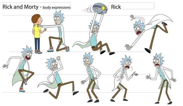 Character Design Manual : I m feelin it cosmicscarecrows rick and morty character