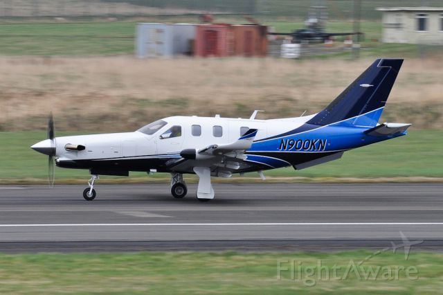 Departing to Reykjavik. 3 brand new TBM 900s passed through Prestwick on delivery. First visit of type.