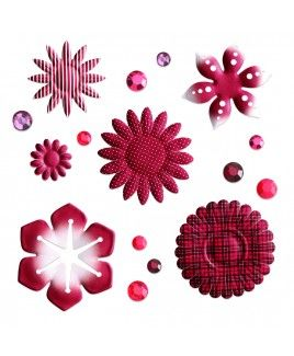 Mix & Match Cranberry Embellishments