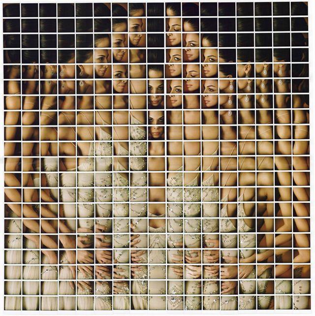 Polaroid Portrait Mosaic by Maurizio Galimberti | Yellowtrace.