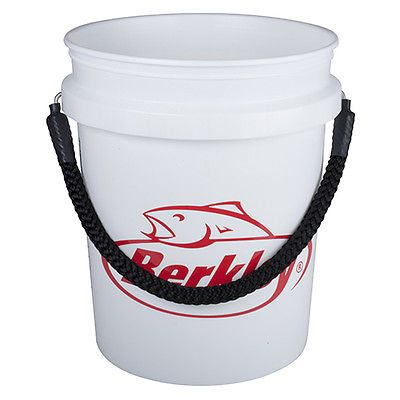 Bait Buckets 179986: Berkley 5 Gallon White Fish Bucket With Black Rope Handle -> BUY IT NOW ONLY: $33.19 on eBay!