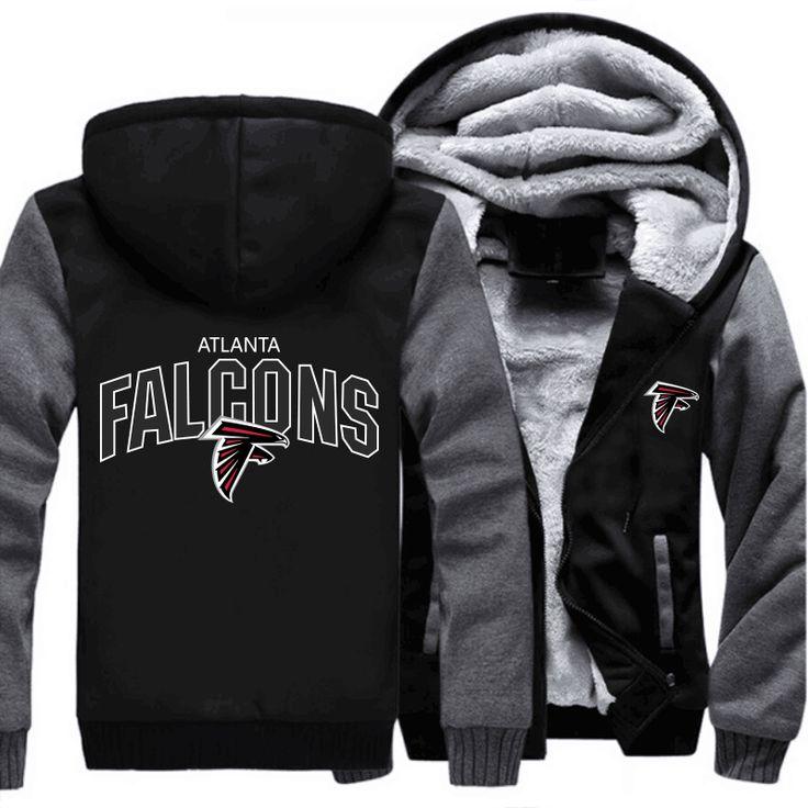 Groothandel atlanta falcons nfl amerikaanse voetballen team mannen truien en sweatshirts rits jas hoodie sportwear trainingspakken