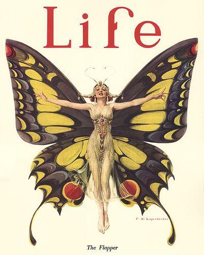 Life magazine cover, 1922Magazine Covers, Butterflies, Life Magazines, Artdeco, Covers Art, Vintage Life, Flappers, Magazines Covers, Art Deco
