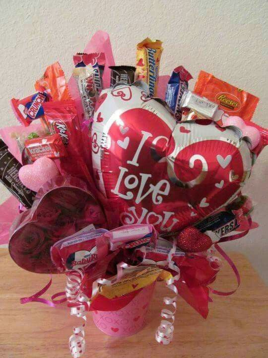 184 best images about candy bouquets and candy cakes on for Valentine candy crafts ideas