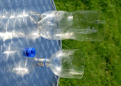 Your own wasp trap using a 2 liter bottle, vinegar, sugar and water.