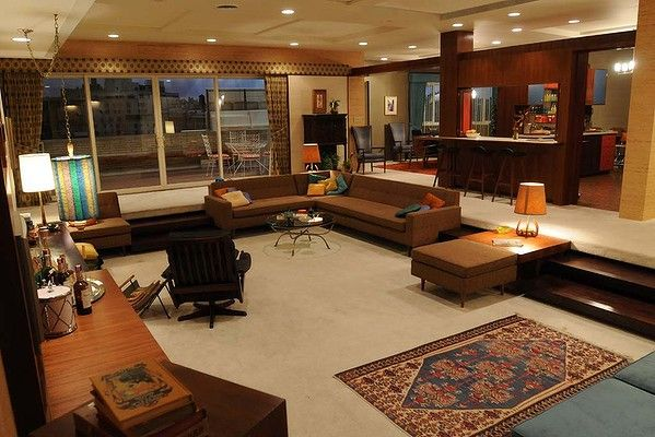 Don and Megan Draper's Apartment ... Mad Men. Photo ...