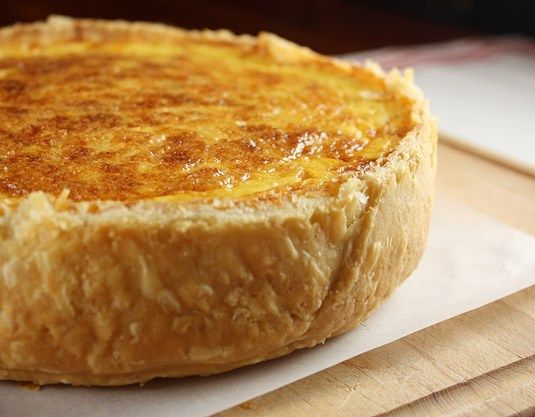 - Quiche Lorraine - with caramelized onions,bacon and cheese,- if making a high-sided pie crust,-add more filling?