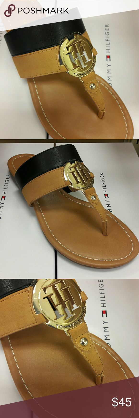 Tommy Hilfiger sianne  sandals Style: T-StrapClosure  Type: Buckle Material: SyntheticSole  Material: Manmade Toe Style: Split Toe Tommy Hilfiger Shoes Sandals