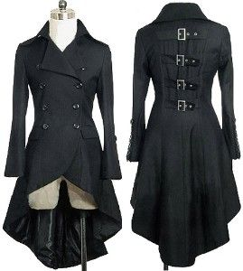 black corset trench coat  | Gothic Aristocrat Metal Buckle Tail Coat review at Kaboodle