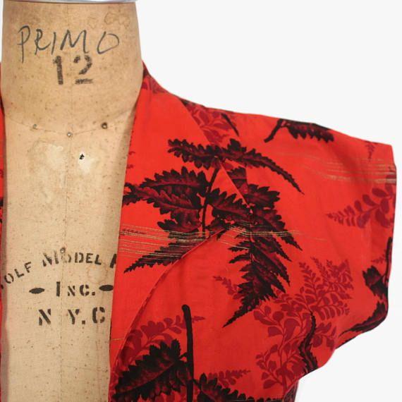 Boléro en hawaïen vintage des années 50 / années 1950