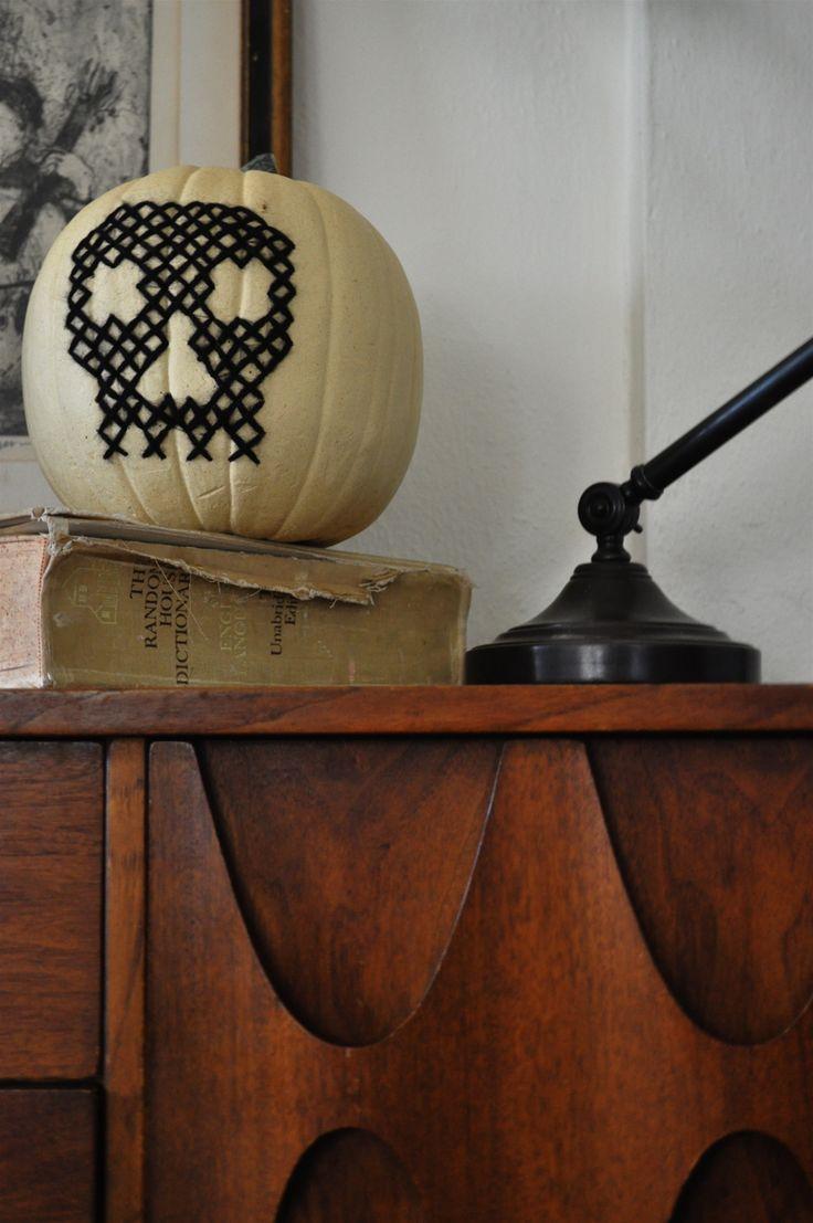 cross-stitch pumpkin