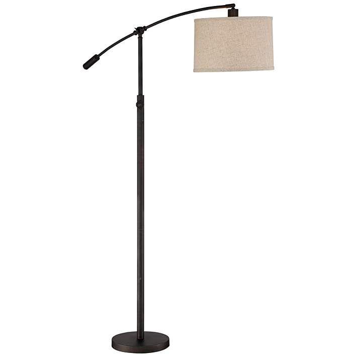 Quoizel Clift Oil Rubbed Bronze Adjustable Arc Floor Lamp - #9D332 | Lamps Plus