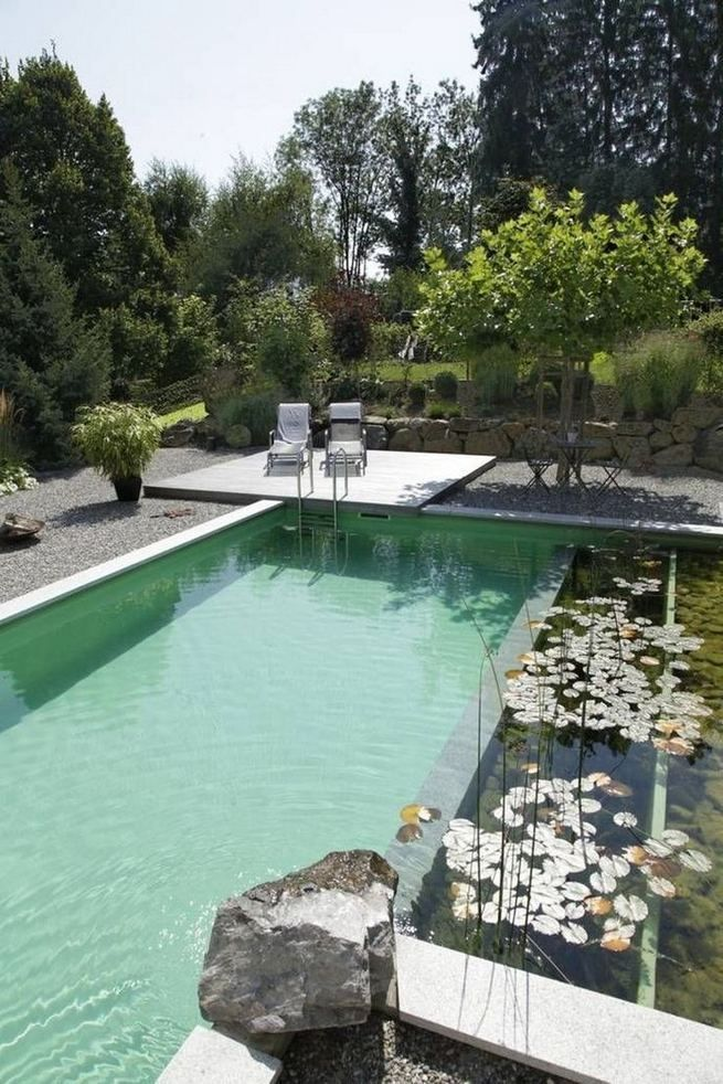 12 Modern Natural Swimming Pools That Will Delight You Fresh Home Ideas Natural Swimming Pools Swimming Pool Landscaping Pool Landscaping