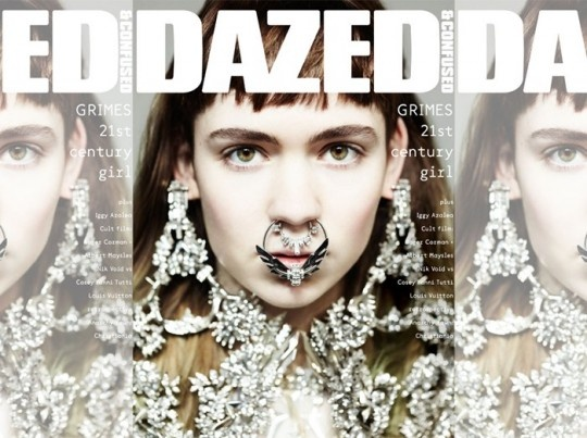 Givenchy jewels as worn by Grimes for Dazed mag
