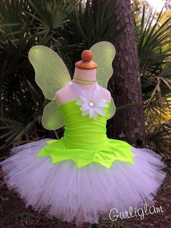 Tinker Bell tutu Costume, Tinker Bell Tutu Dress, Birthday by Gurliglam, $75.00