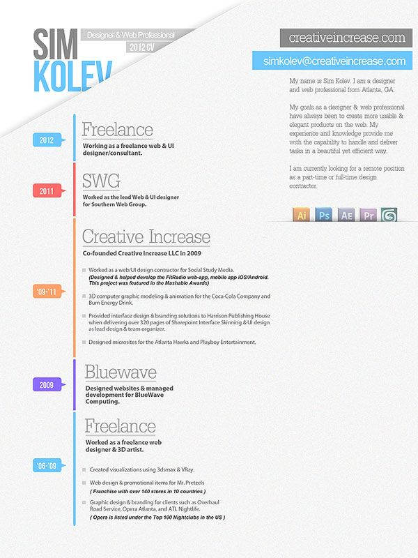 38 best CV Designs images on Pinterest Resume templates, Cv - visually appealing resume