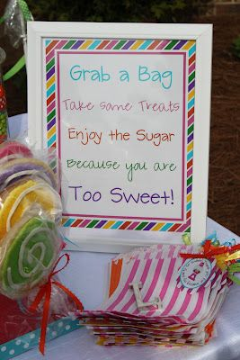 sweet shoppe birthday party candy table sign