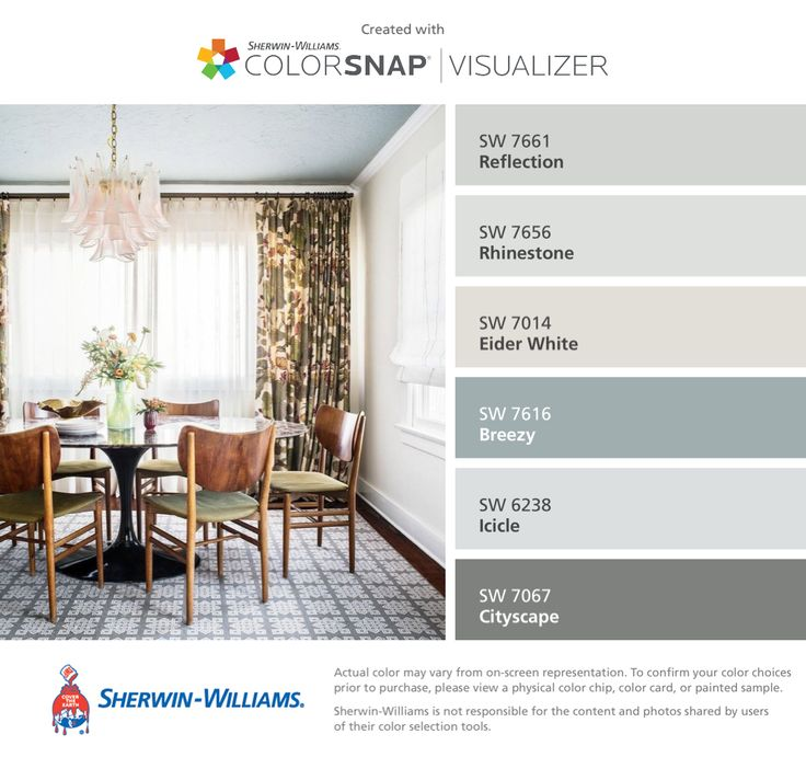 I Found These Colors With ColorSnapR Visualizer For IPhone By Sherwin Williams Reflection Living Room