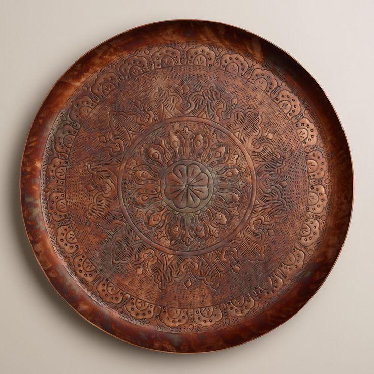 Round Copper Tray   World Market