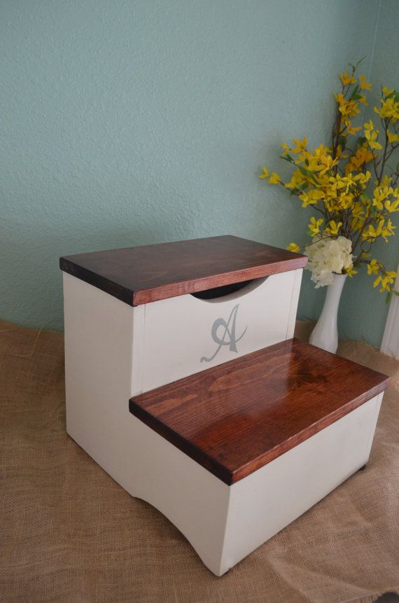 Kids step stool wooden step stool customize hand made by OnceWood