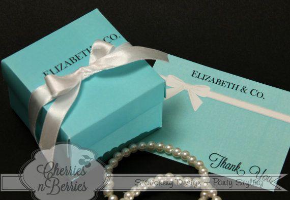 Tiffany inspiré Bridal Shower  boîtes faveur par CherriesBerries