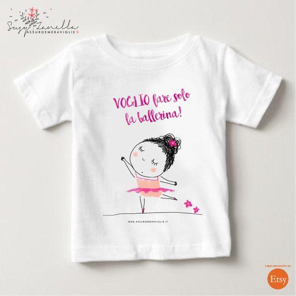 Magliette manica corta - BALLERINA t-shirt - un prodotto unico di Susy-Zanella…