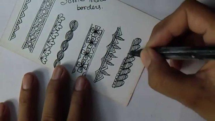 madhubani art: different beautiful borders